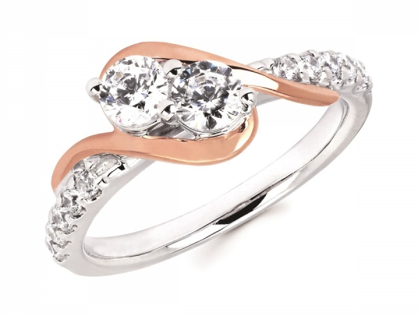 Womens Fashion - Two Stone Fashion Ring
